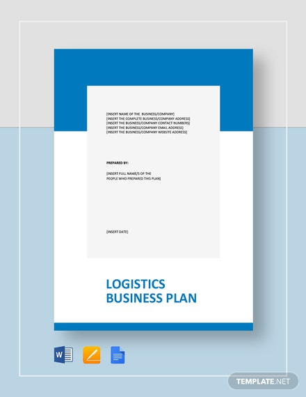 Logistics Business Plan Template