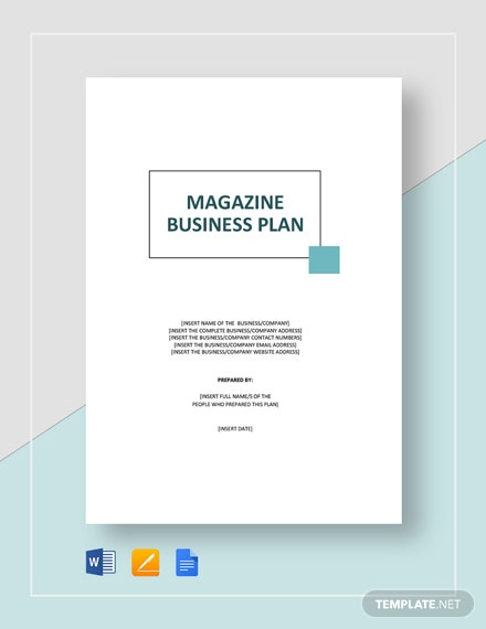 Magazine Business Plan Template