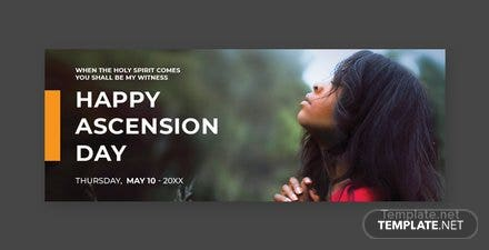 Free Ascension Day Facebook Event Cover Template