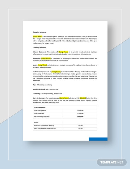 Media Agency Business Plan Download