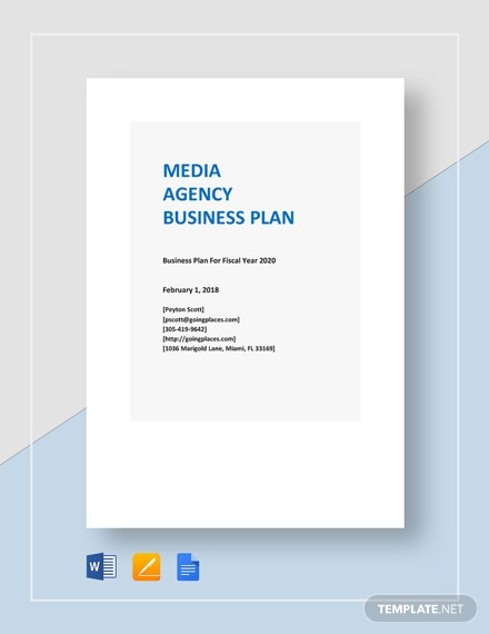 Media Agency Business Plan Template
