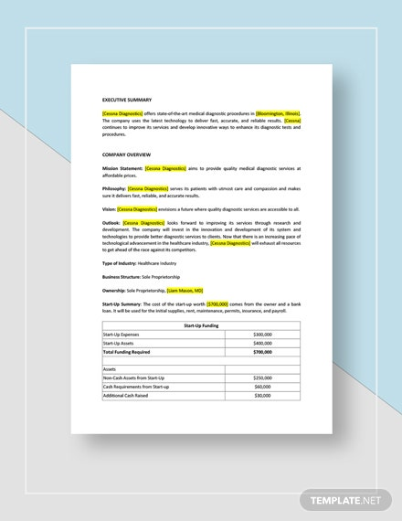 Medical Laboratory Business Plan Download
