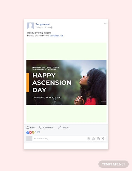 Free Ascension Day Facebook Post Template