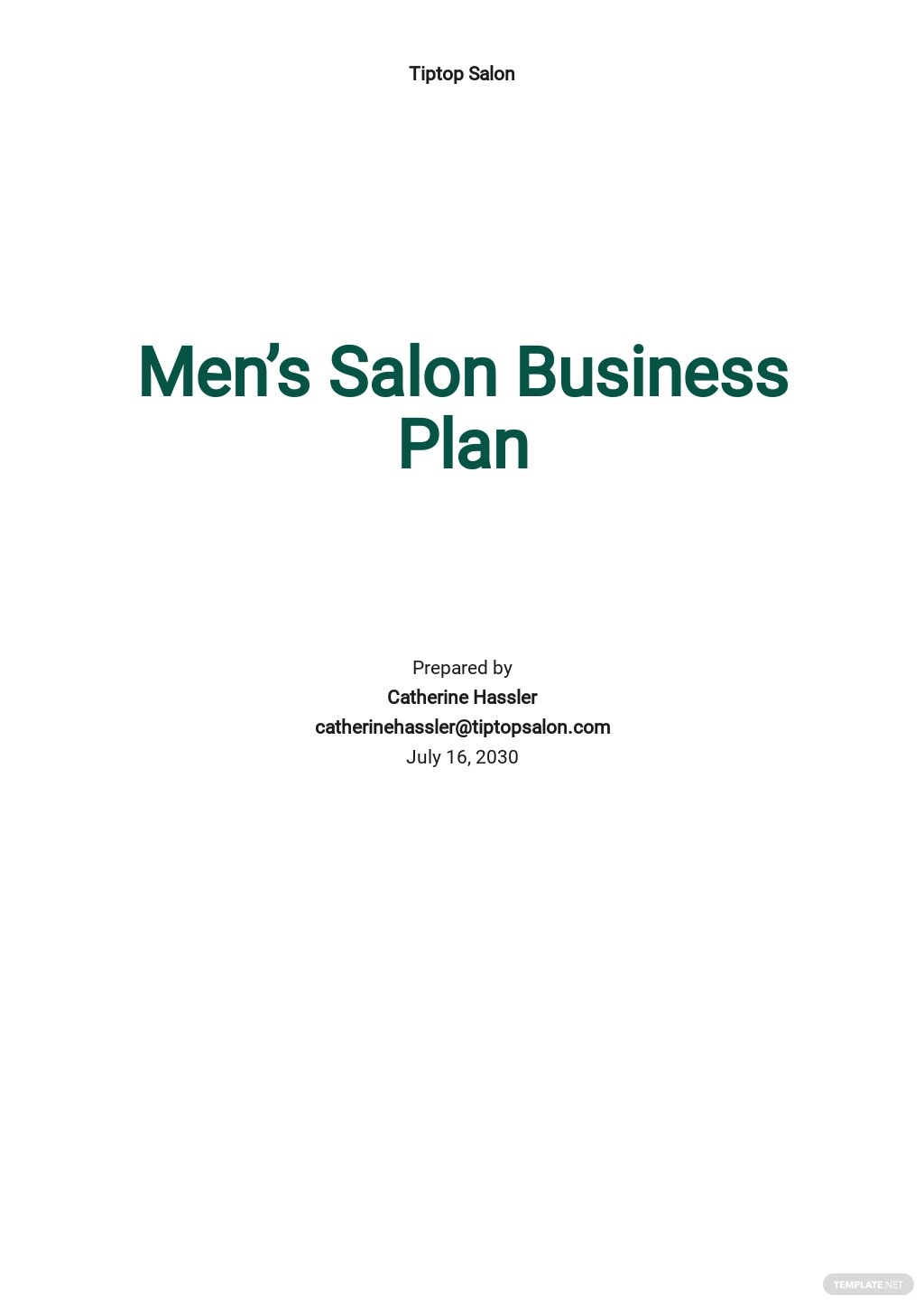 Men's Salon Business Plan Template.jpe