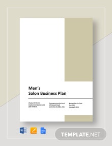 Men's Salon Business Plan Template