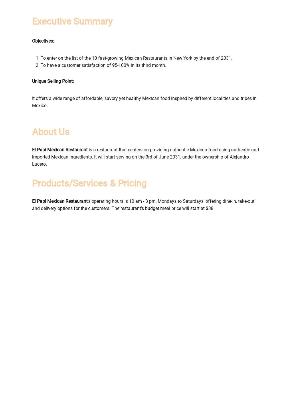 Mexican Restaurant Business Plan Template 1.jpe