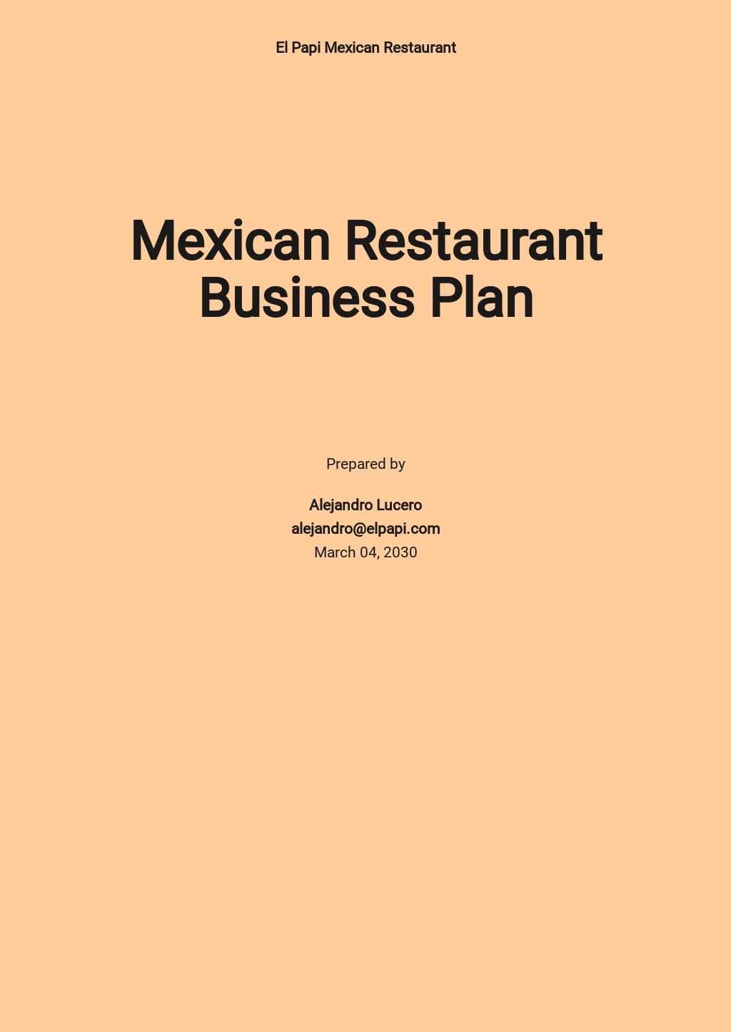 Mexican Restaurant Business Plan Template.jpe