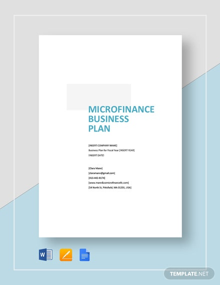 Micro Finance Business Plan Template