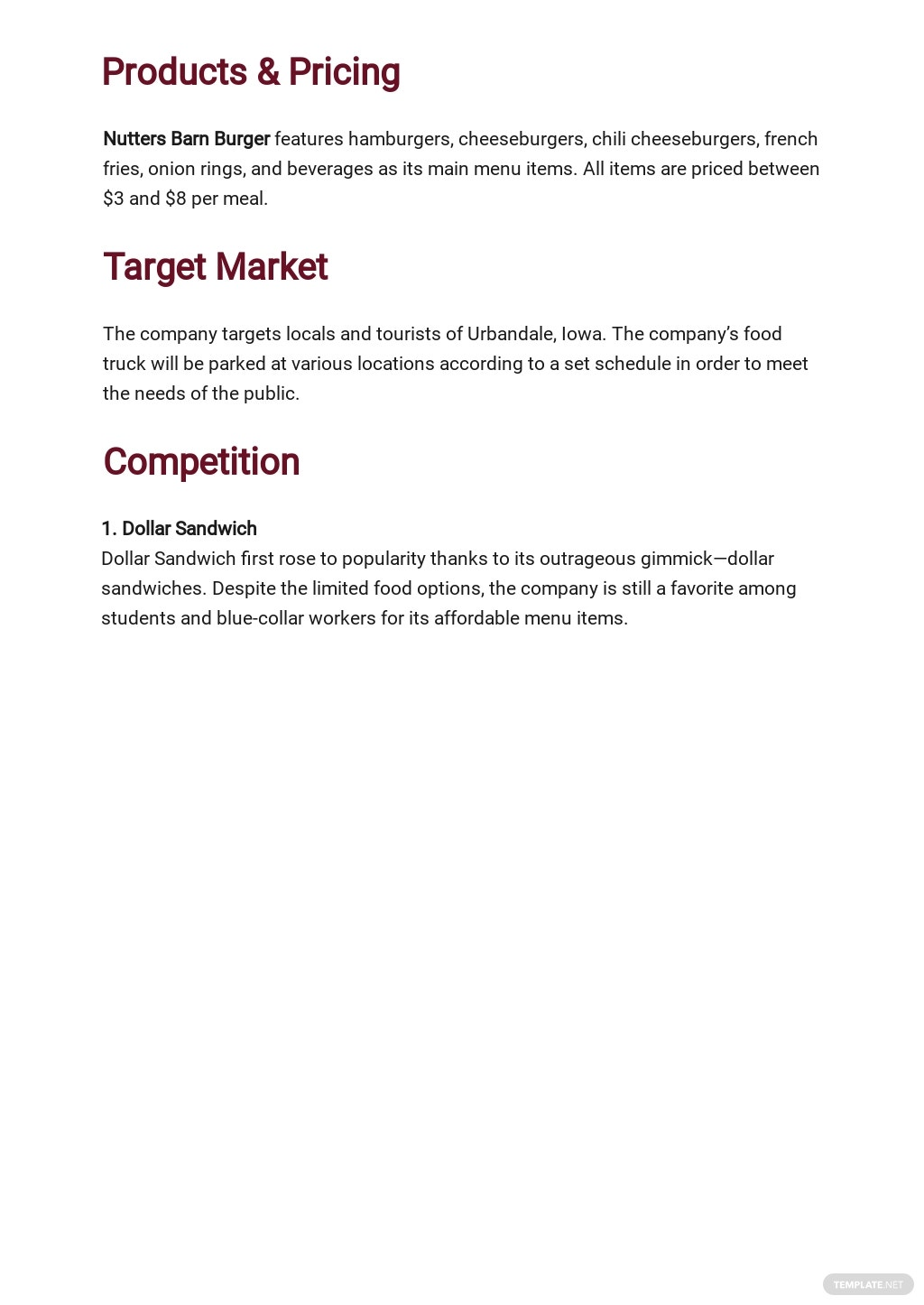Mobile Catering Business Plan Template 2.jpe