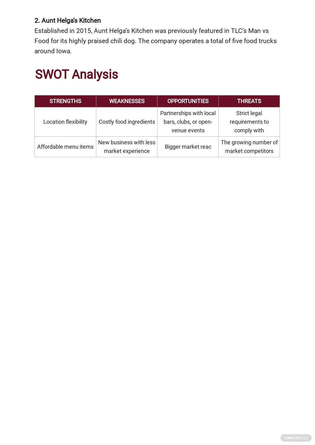 Mobile Catering Business Plan Template 3.jpe