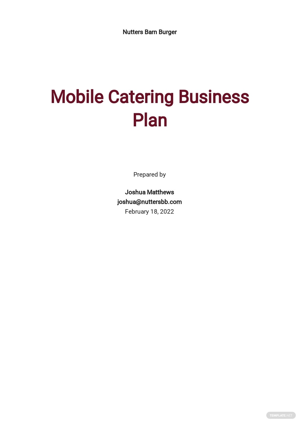 Mobile Catering Business Plan Template.jpe