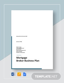 Mortgage Broker Business Plan Template