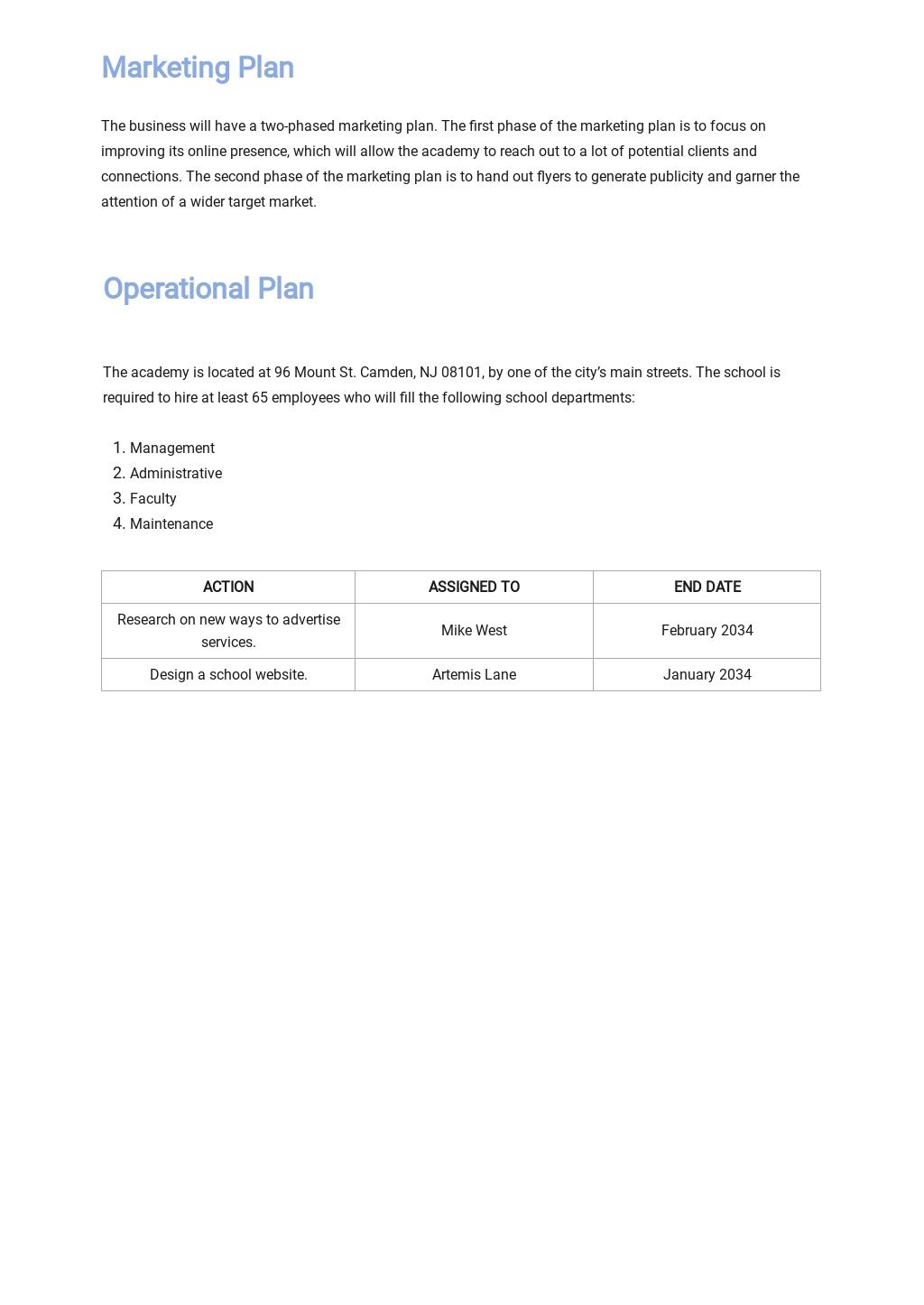 Music School Business Plan Template  4.jpe