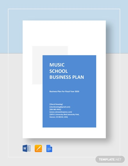 Music School Business Plan Template