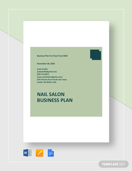 Nail Salon Business Plan Template