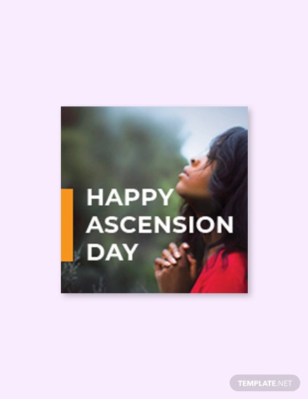 Free Ascension Day Facebook Profile Photo Template