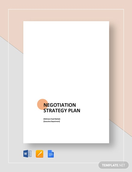Negotiation Strategy Plan Template