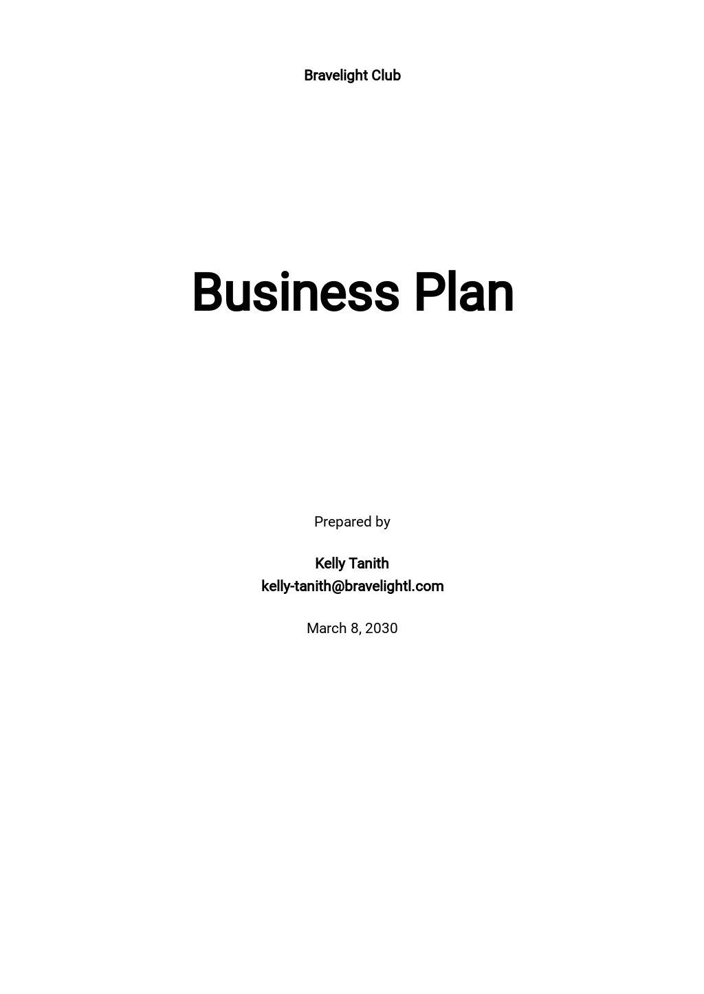 Night Club Business Plan Template