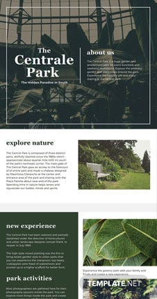 Free One Page Brochure Template