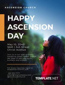 Free Ascension Day Flyer Template