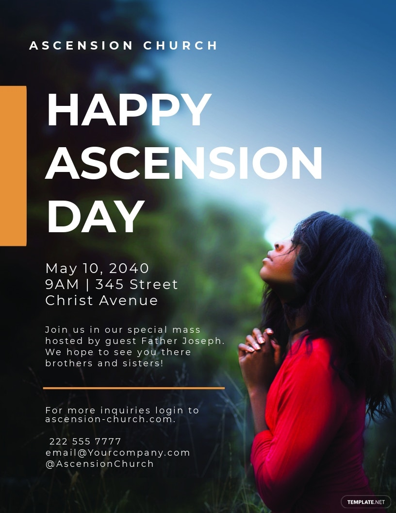 Ascension Day Flyer Template