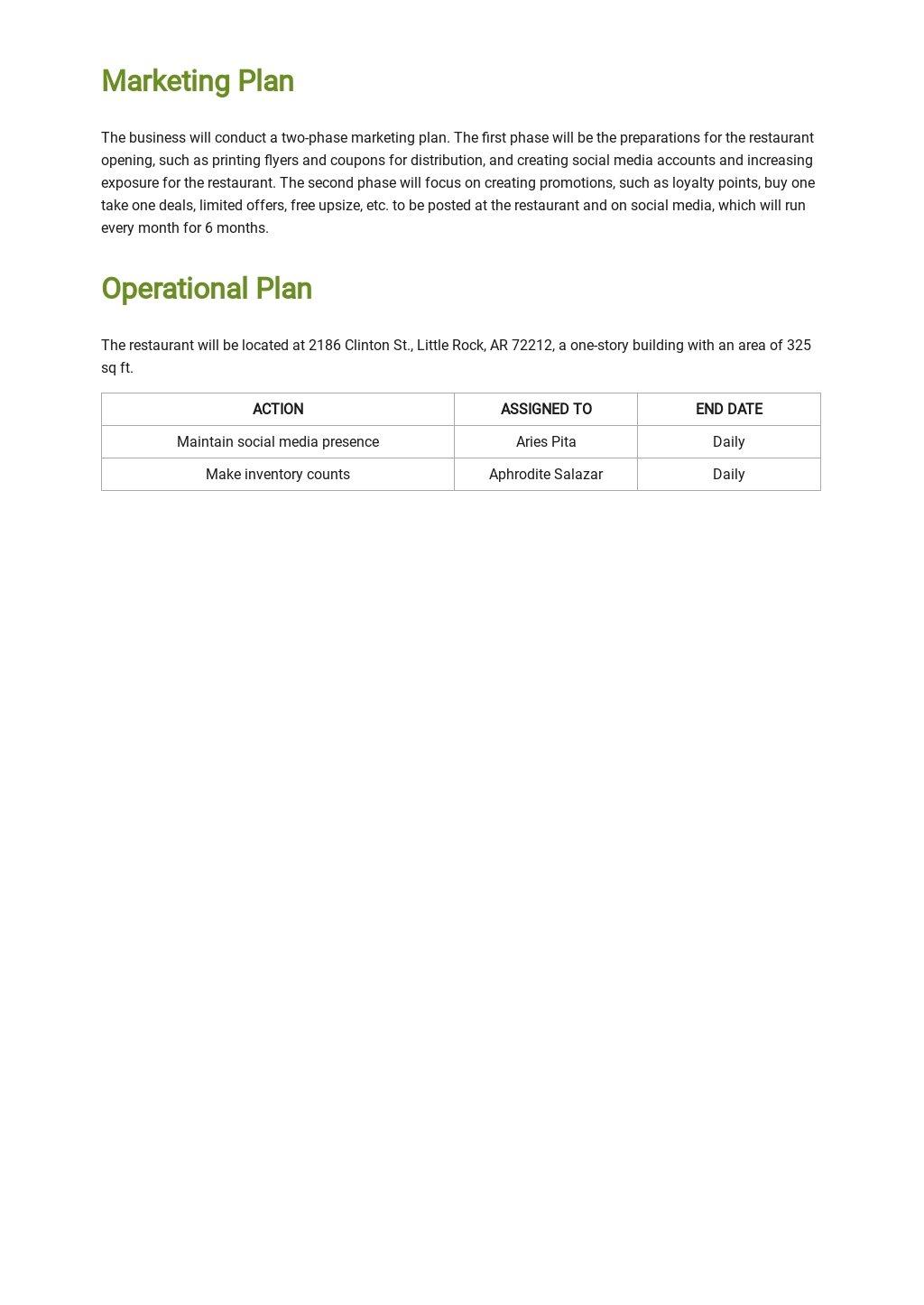 Organic Restaurant Business Plan Template 3.jpe
