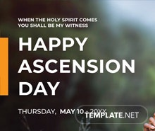 Free Ascension Day Google Plus Cover Template