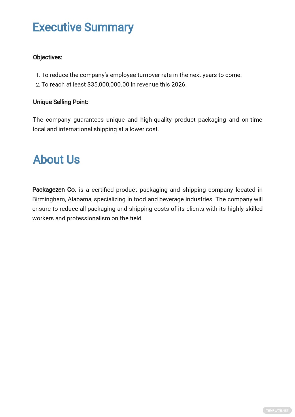 Packaging and Shipping Business Plan Template 1.jpe