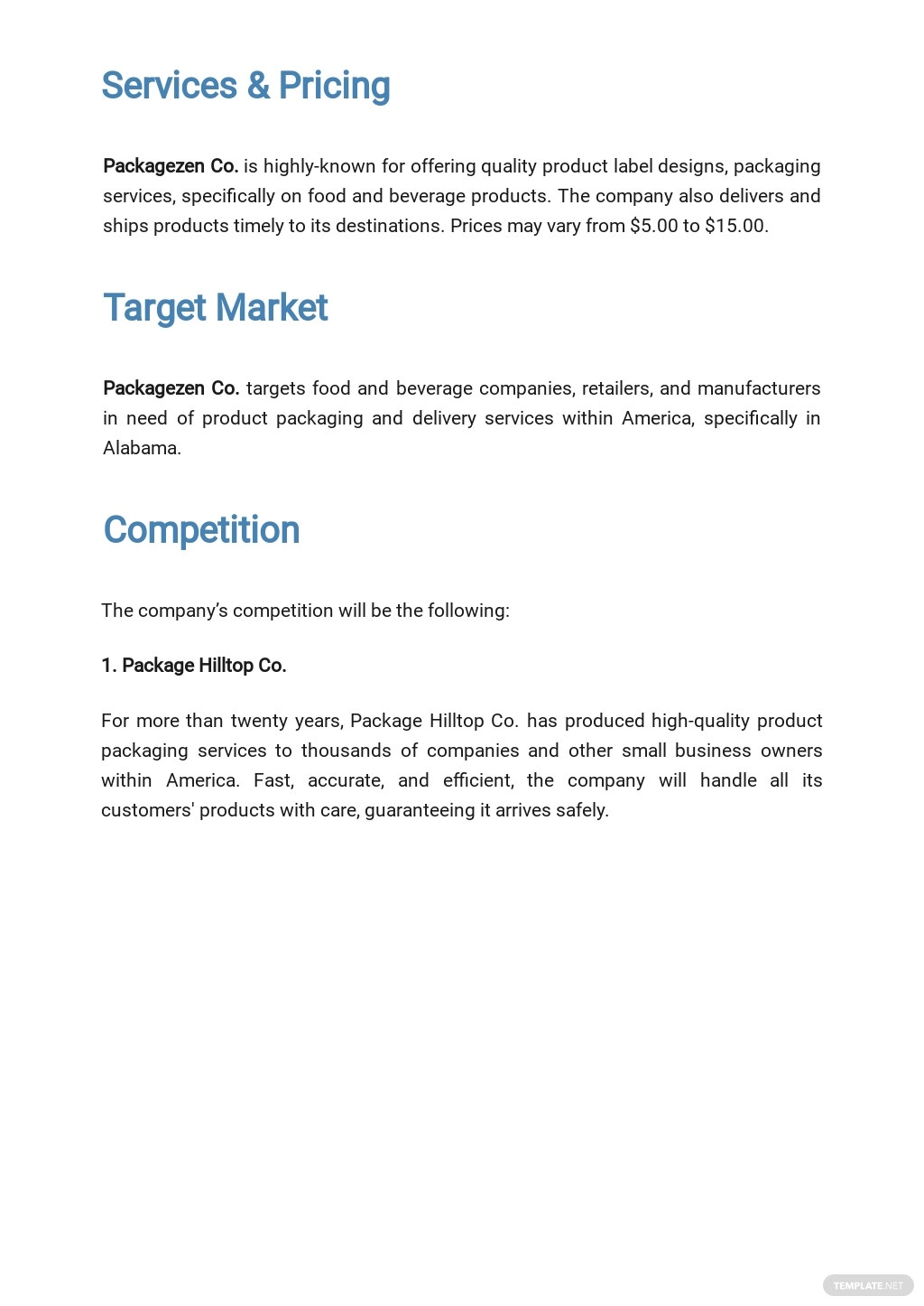 Packaging and Shipping Business Plan Template 2.jpe