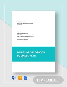 Painting / Decorator Business Plan Template