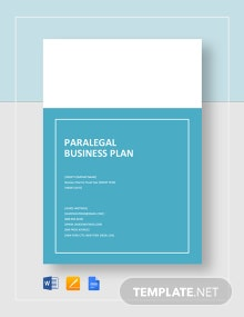 Paralegal Business Plan Template