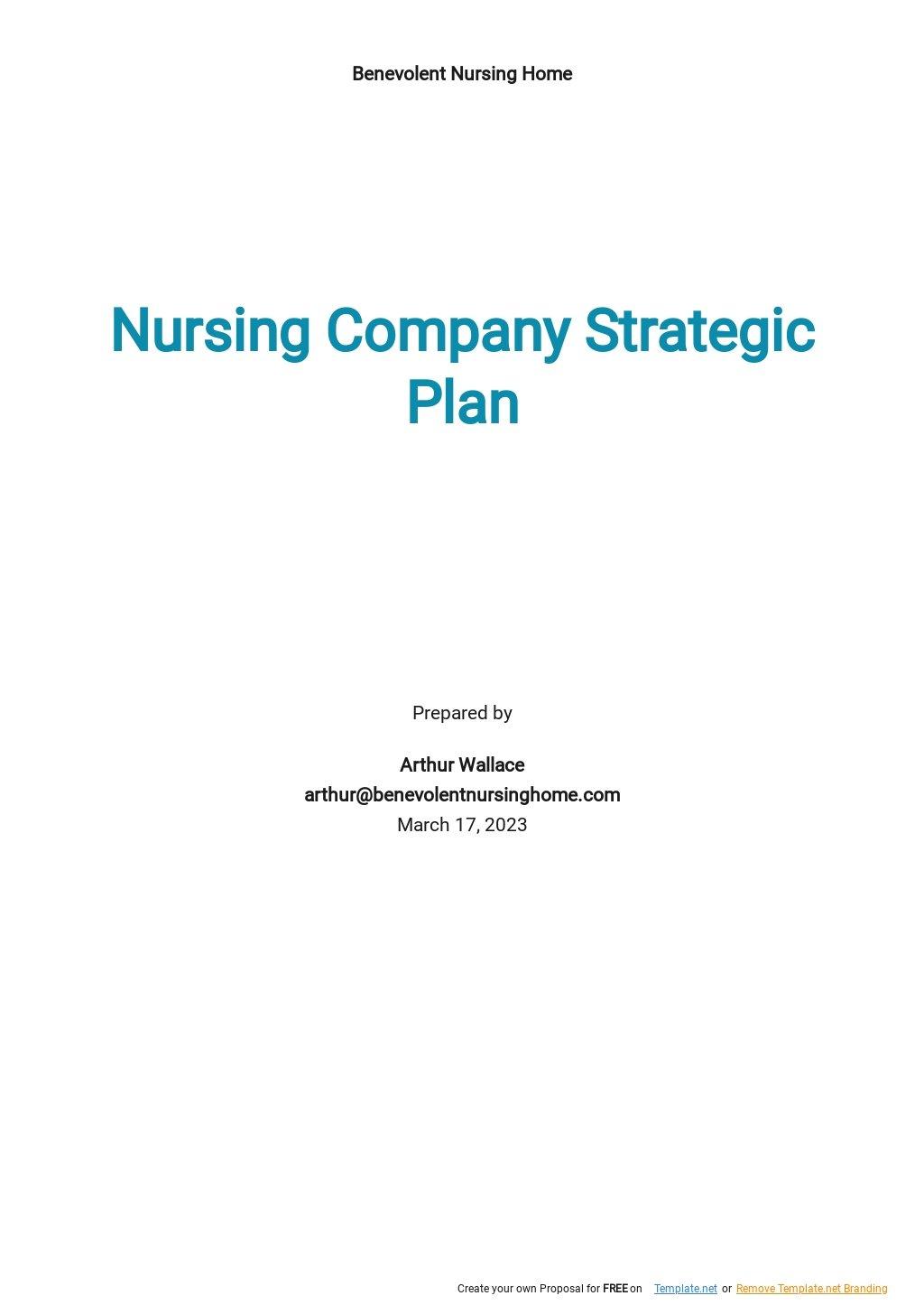Nursing Company Strategic Plan Template.jpe