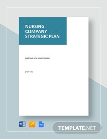 Nursing Company Strategic Plan Template