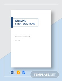 Nursing Strategic Plan Template