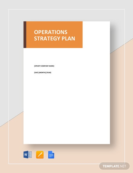 Operations Strategy Plan Template