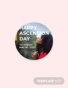 Free Ascension Day Google Plus Header Photo Template