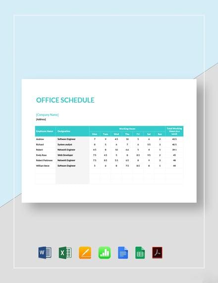 Office Schedule