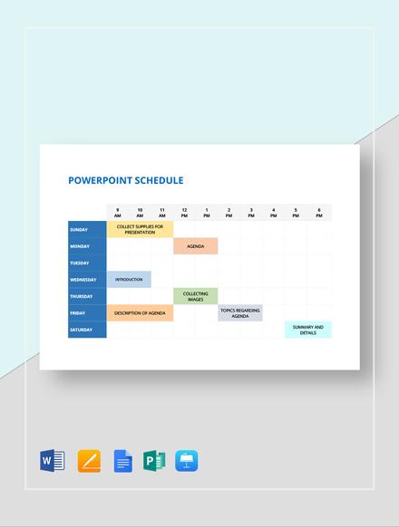 PowerPoint Schedule Template