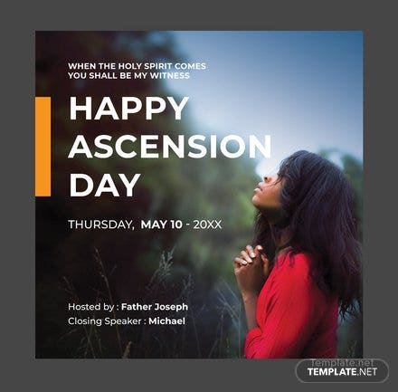 Free Ascension Day Instagram Post Template