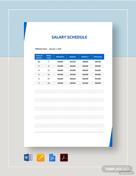 Salary Schedule Template