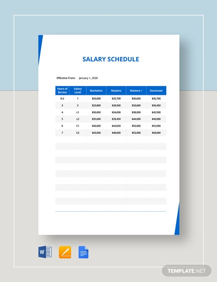 Salary Schedule Template