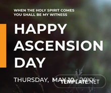 Free Ascension Day LinkedIn Company Cover Template