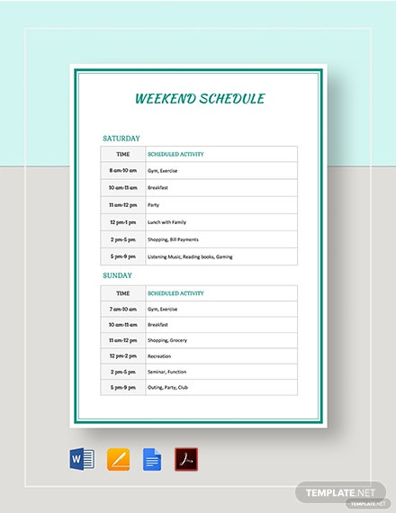 Weekend Schedule Template from images.template.net