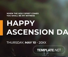 Free Ascension Day LinkedIn Profile Banner Template