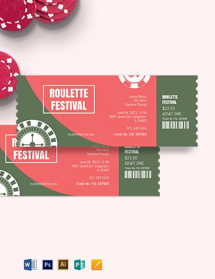 Raffle Festival Ticket Template