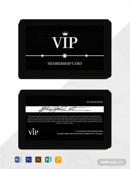Amazing Membership Card Template