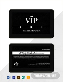 Free Amazing Membership Card Template