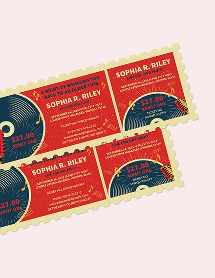Retro Concert Ticket Download