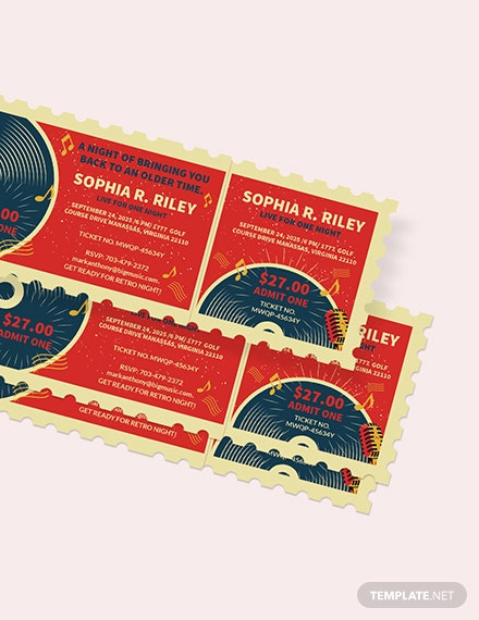 Sample Retro Concert Ticket