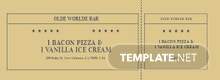 Retro Food Ticket Template